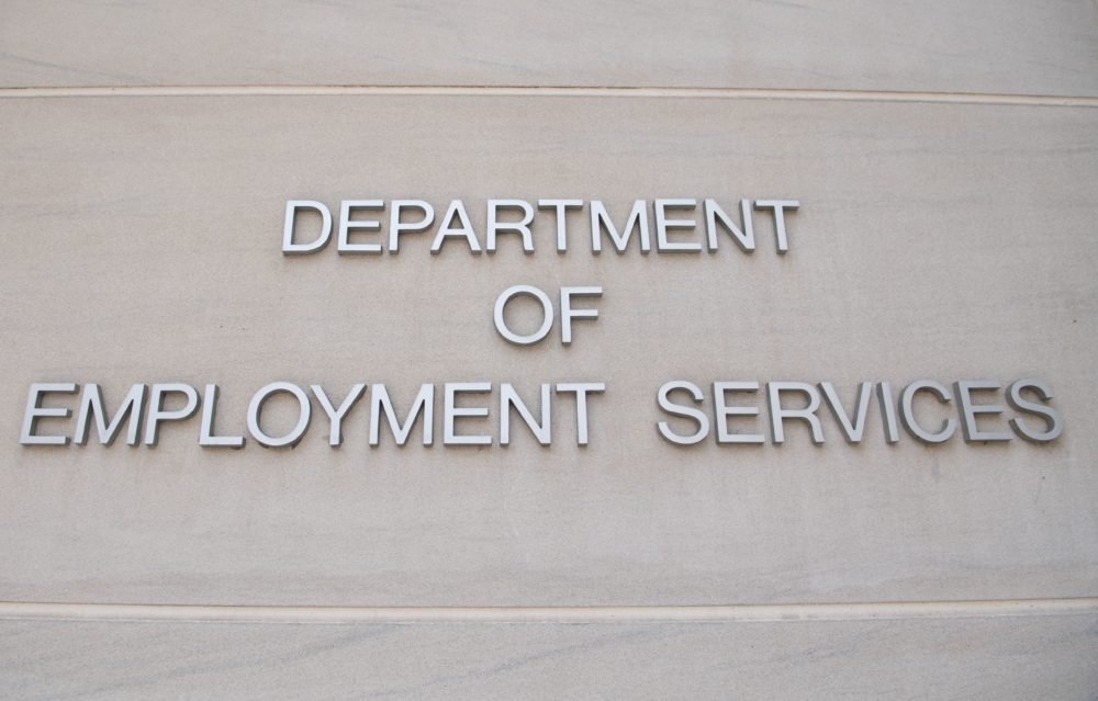 The D.C. Department of Employment Services, which handles unemployment claims for D.C. residents, in Washington, D.C. (Saul Loeb/AFP via Getty Images)