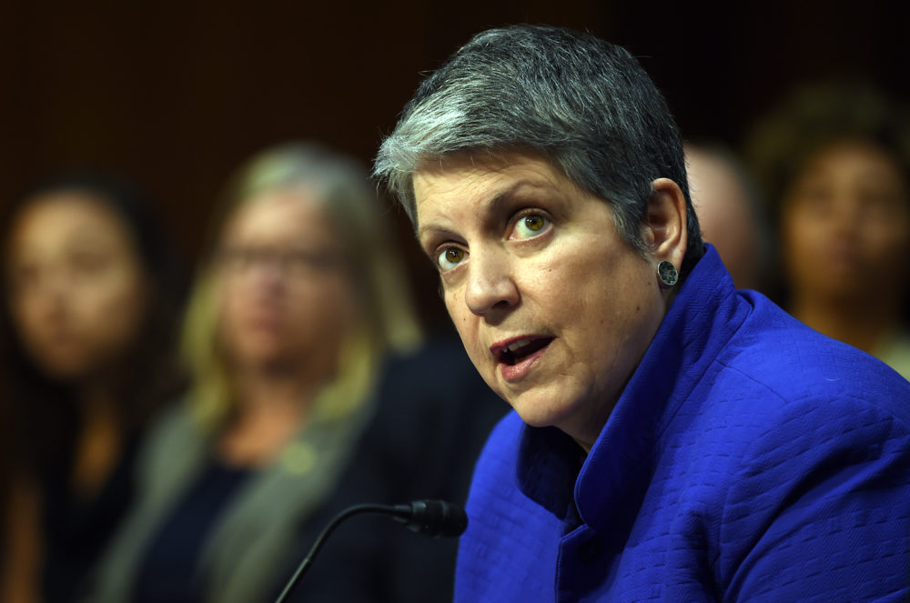 Janet Napolitano, president of the University of California, speaks during a hearing of the Senate Health, Education, Labor, and Pensions Committee on July 29, 2015 in Washington, D.C. (Astrid Riecken/Getty Images)
