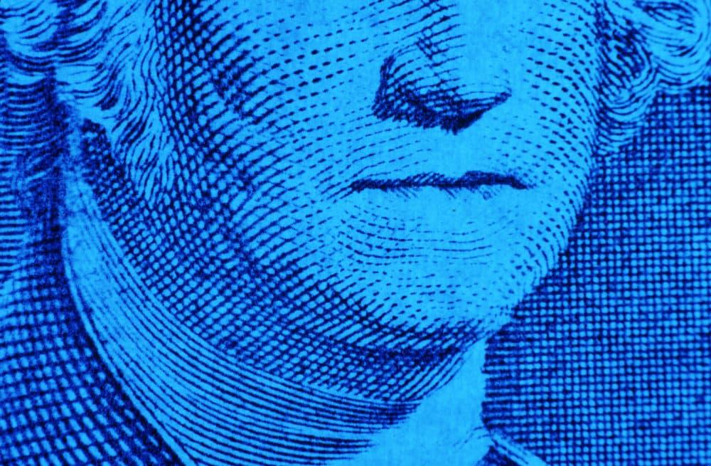 George Washington's mouth on a $1 bill. (Getty)