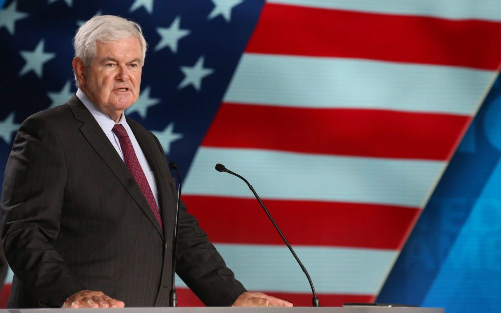 Newt Gingrich, former US Speaker of the House. (Zakaria Abdelkafi/AFP via Getty Images)