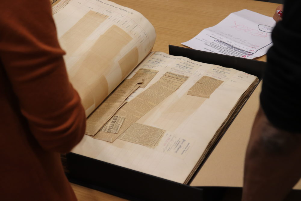 A look inside the collection of Frederick Douglass artifacts at the Yale Beinecke Library. (Courtesy of Yale Beinecke Library)