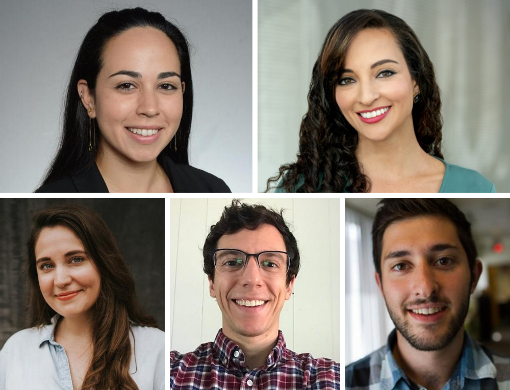 Kind World producers: (Top row) Andrea Asuaje, Yasmin Amer (Bottom row) Erika Lantz, Zachary Ezor, Nate Goldman. (Courtesy)