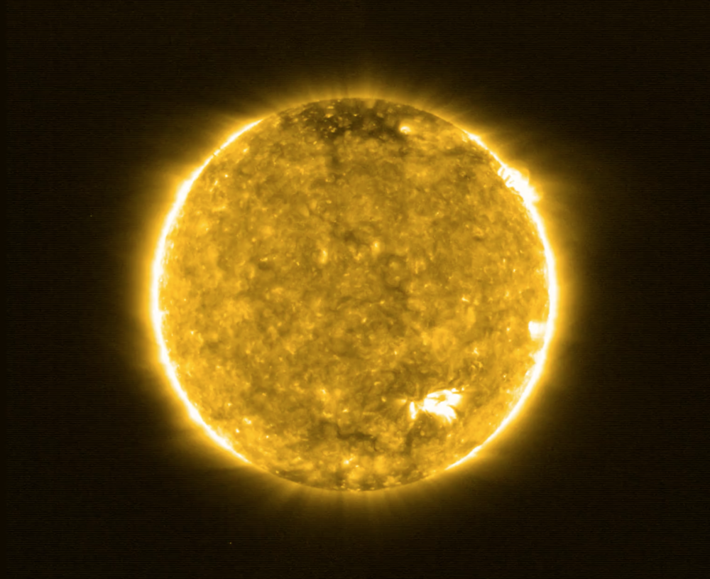 Solar Orbiter's first view of the sun. (European Space Agency)