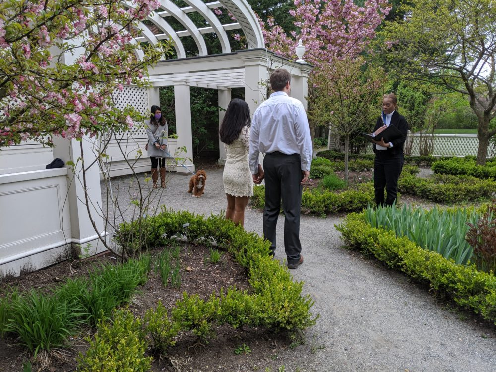 The author's wedding at the Longfellow House in Cambridge. (Courtesy)