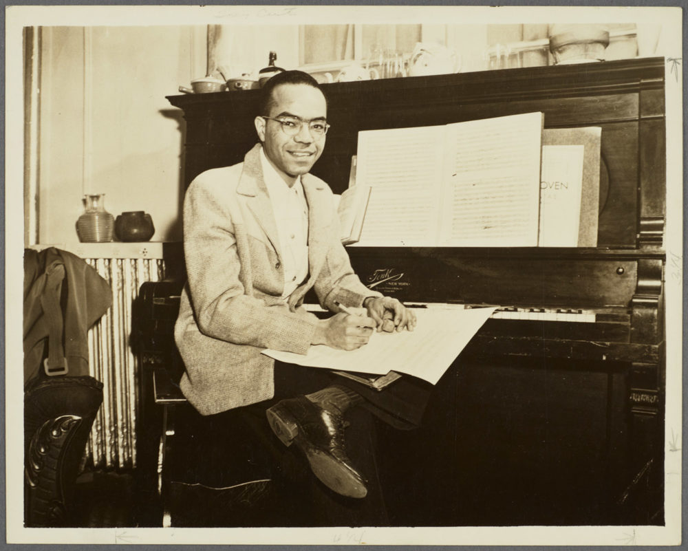 Composer Ulysses Kay in an undated photo. (Courtesy Rare Book and Manuscript Library, Columbia University)