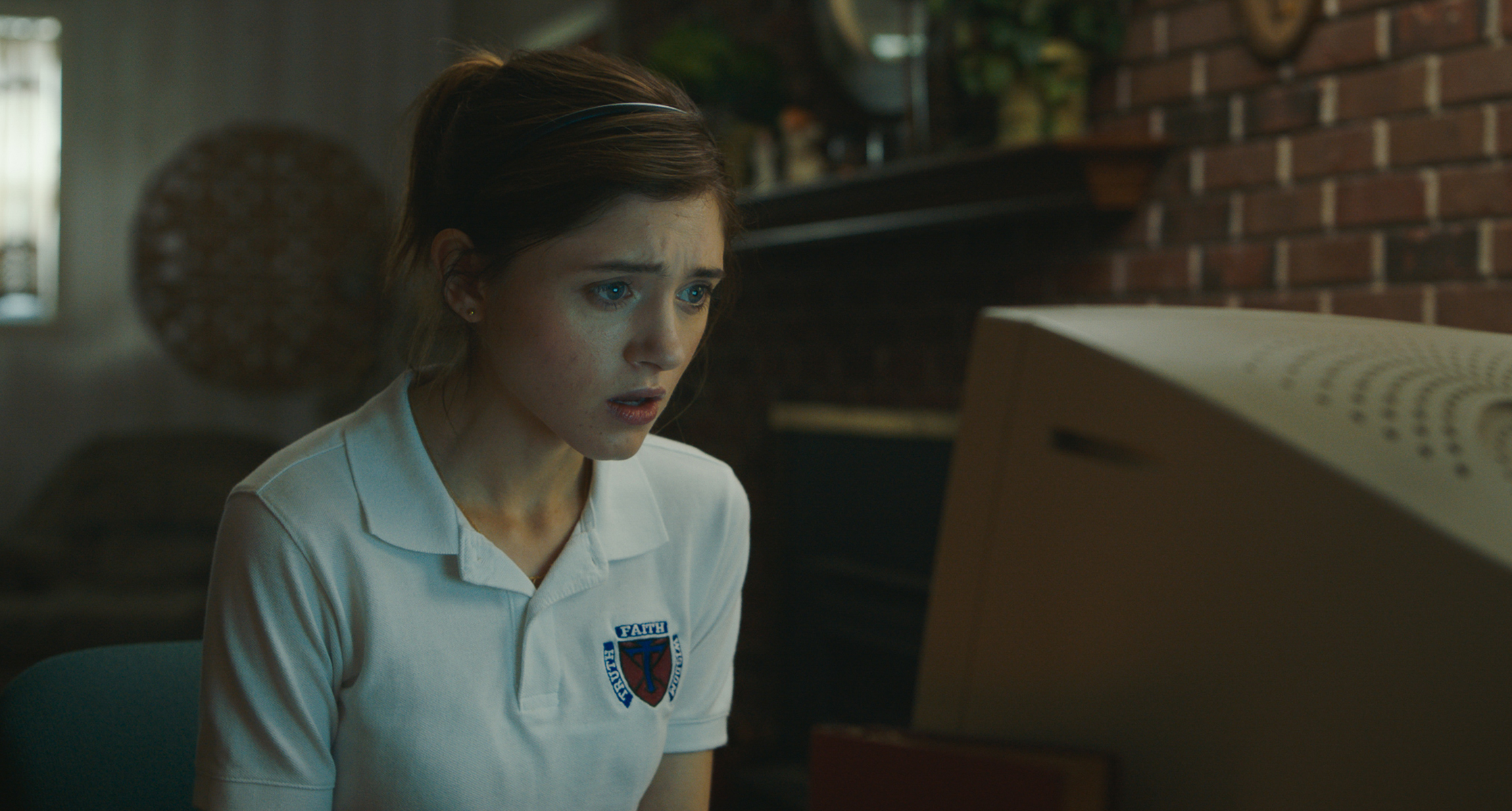 "Natalia Dyer in ""Yes, God, Yes."" (Courtesy Vertical Entertainment)"