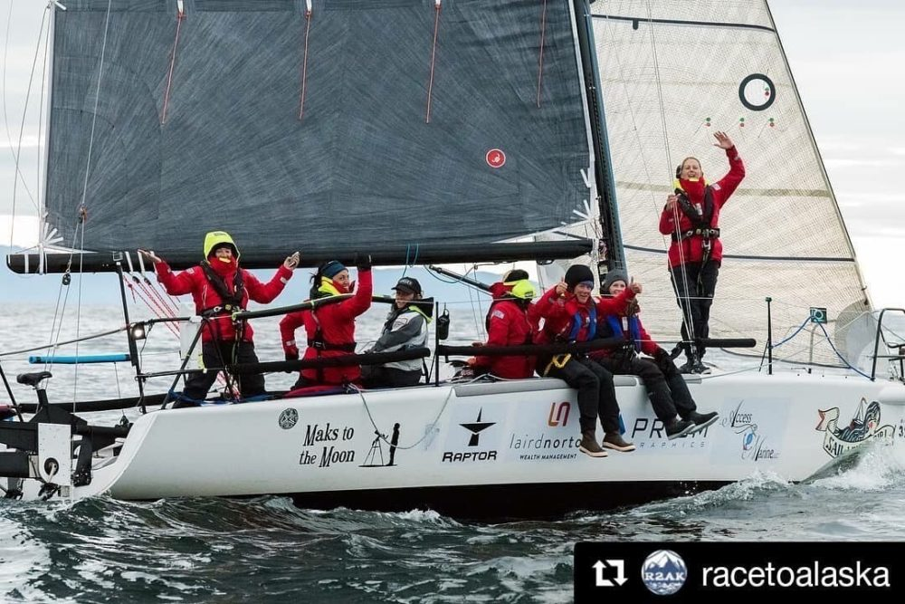 Team Sail Like A Girl out on the water. (Courtesy Race to Alaska)