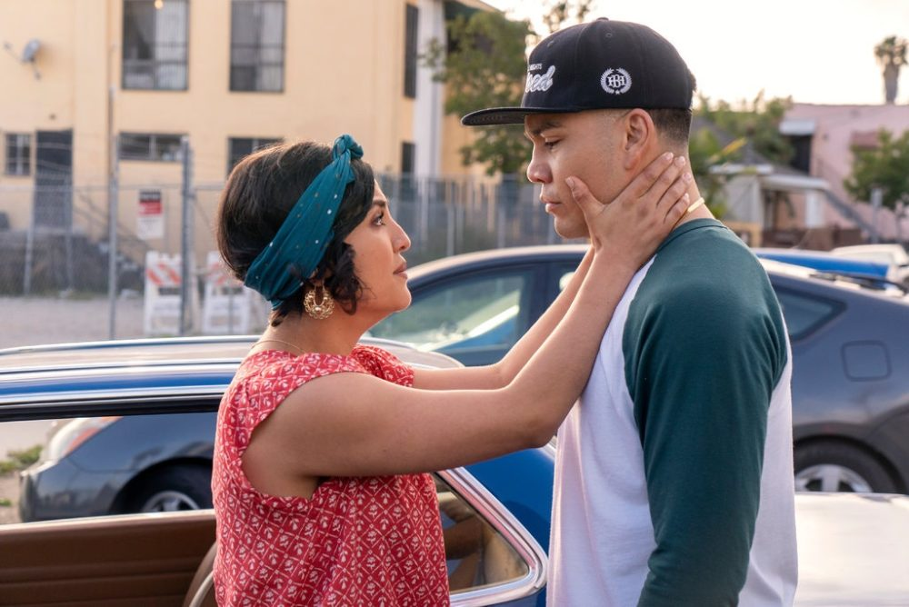 "Annie Gonzalez and J.J. Soria in ""Gentefied."" (Courtesy Kevin Estrada/Netflix)"