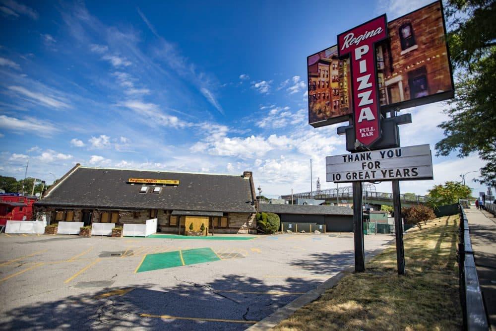 Pizzeria Regina in Allston. (Jesse Costa/WBUR)