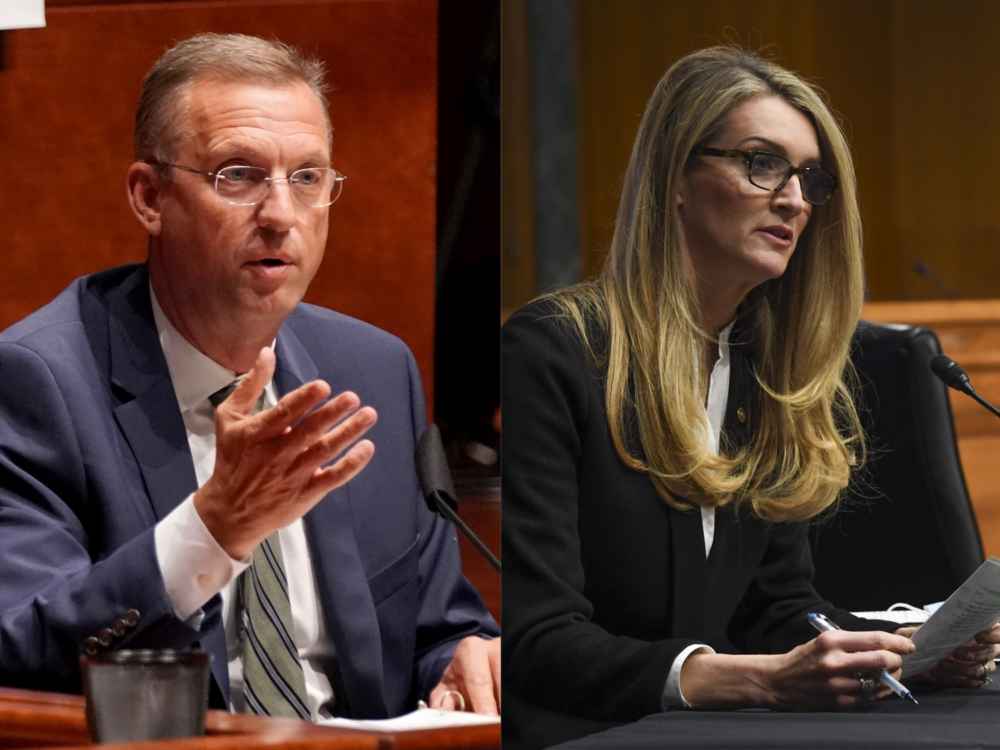 Georgia Sen. Kelly Loeffler and Rep. Doug Collins. (Toni L. Sandys-Pool/Getty Images and Greg Nash/POOL/AFP via Getty Images)