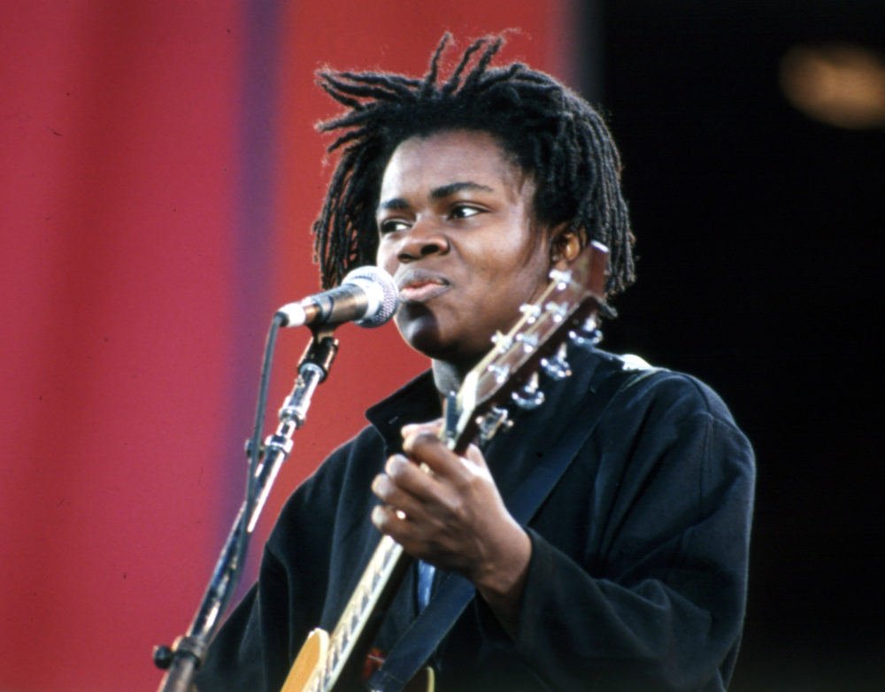 "Tracy Chapman, performing in 1990, earned national acclaim for her song ""Fast Car"" after graduating from Tufts University in 1986. (AP)"