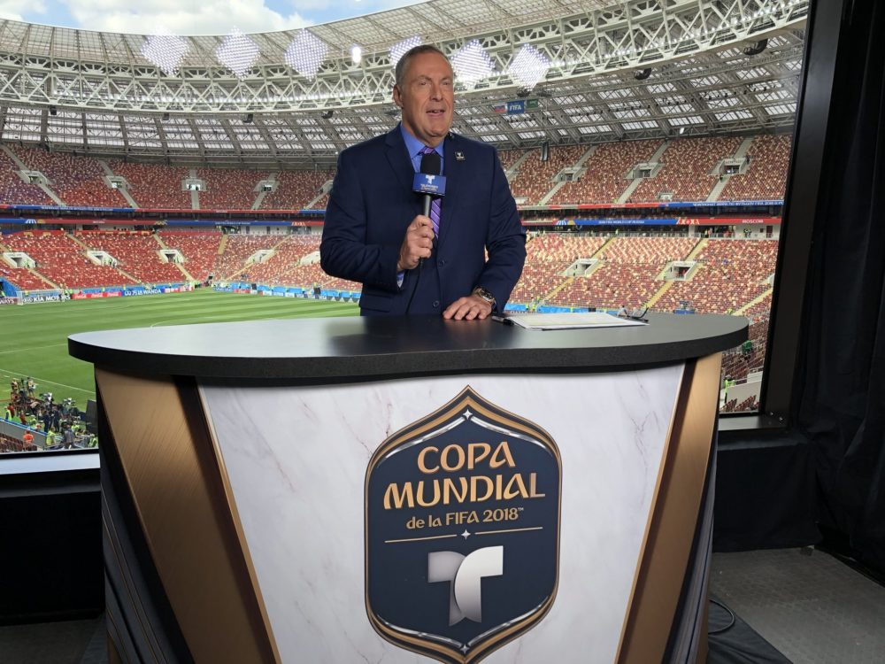 Announcer Andrés Cantor became famous for calling soccer goals, but there's much more to his career. (Courtesy of Telemundo)