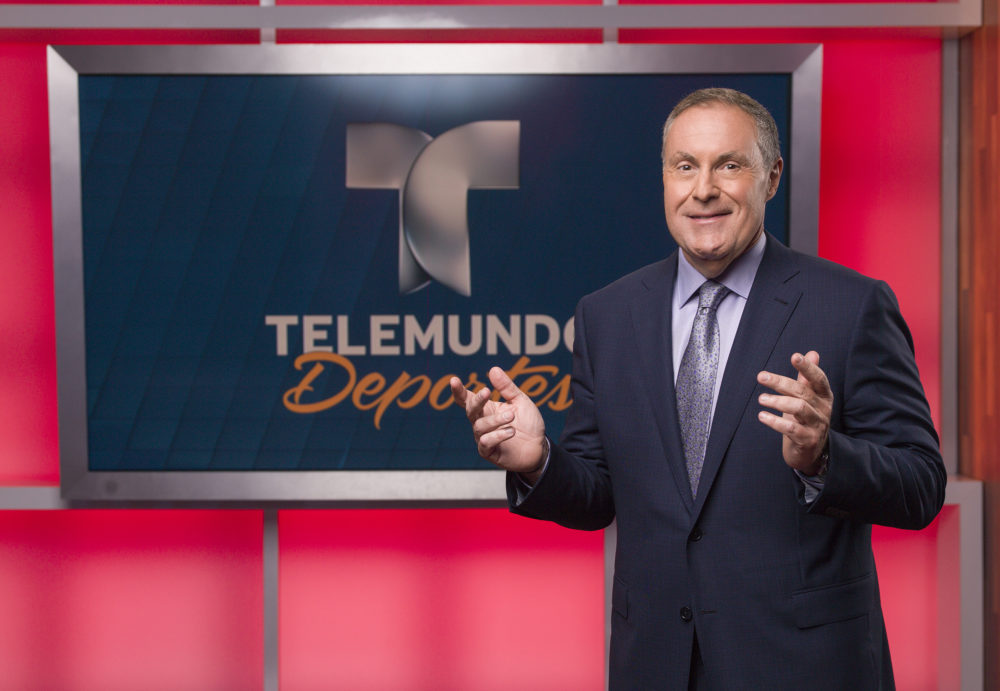 Telemundo's Andrés Cantor didn't plan on going into broadcasting. (Courtesy Telemundo)