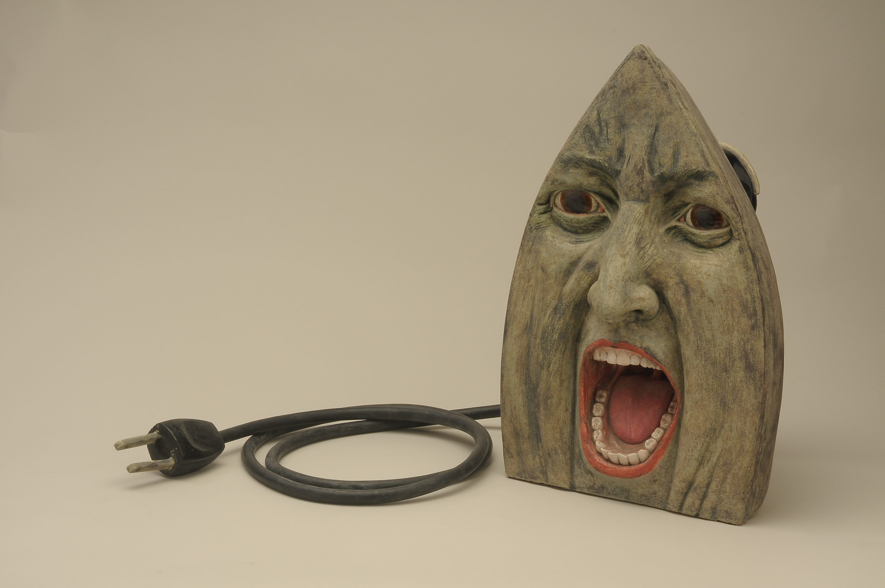 """Cynthia Consentino, """"She Irons II,"""" 1998. (Courtesy Fuller Craft Museum)"""