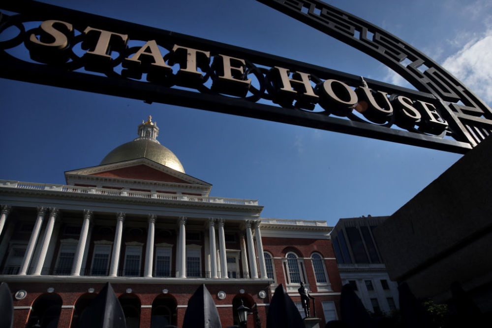 The Massachusetts State House in Boston on July 16, 2020. (Craig F. Walker/The Boston Globe via Getty Images)