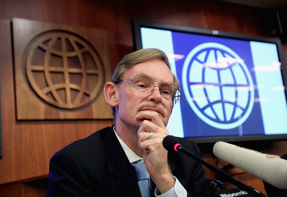 Robert Zoellick during a press conference at the World Bank office on September 5, 2011 in Beijing, China. (VCG/VCG via Getty Images)