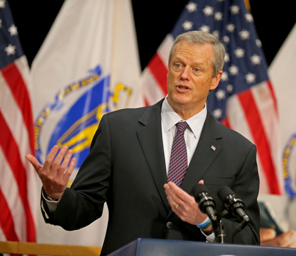 Gov. Charlie Baker planned to outline the new budget proposal Wednesday afternoon at the State House. (Stuart Cahill/MediaNews Group/Boston Herald)