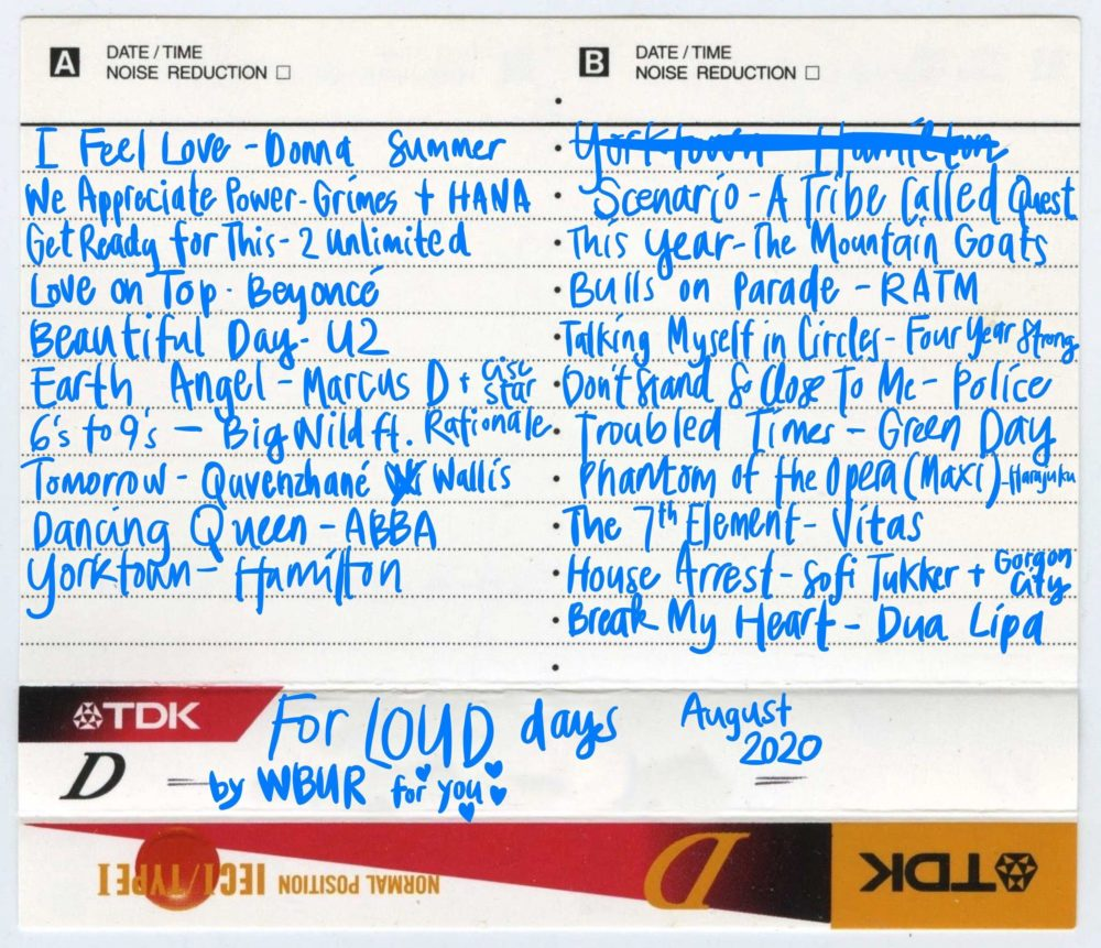 WBUR's mixtape for days when you want some loud music. (Meghan B. Kelly/WBUR)
