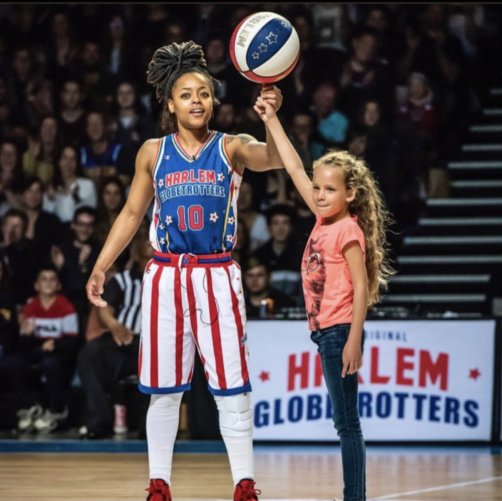 Cherelle became the 16th woman to join the Harlem Globetrotters. (Courtesy Cherelle George)