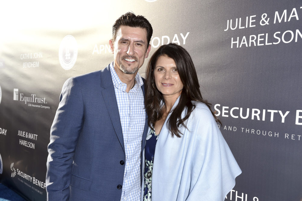 Nomar Garciaparra and Mia Hamm met in 1998. About five years later, they met Only A Game producer Martin Kessler. (Richard Shotwell/Invision for Los Angeles Dodgers Foundation/AP Images)