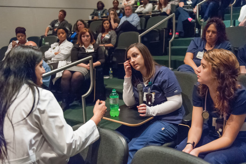 A Schwartz Rounds session at UAB Hospital in Birmingham, Alabama in 2015. (Courtesy The Schwartz Center for Compassionate Healthcare)