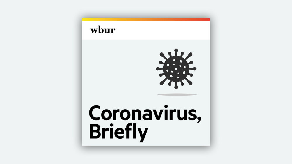 """Coronavirus, Briefly"" is a daily coronavirus microcast. (Illustration by Jack Mitchell/WBUR)"