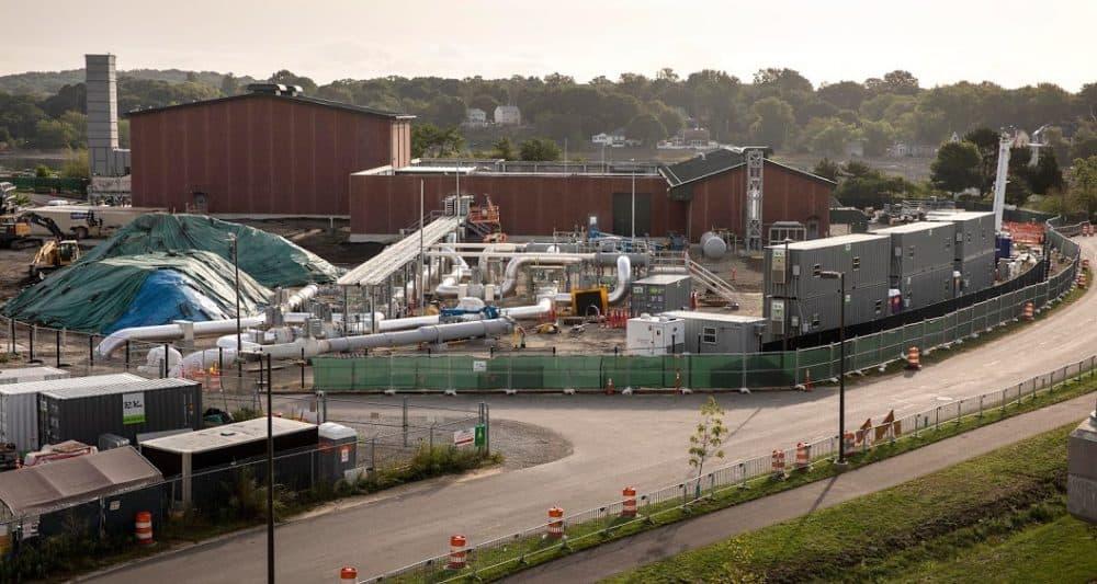 The Weymouth gas compressor station. (Robin Lubbock/WBUR)