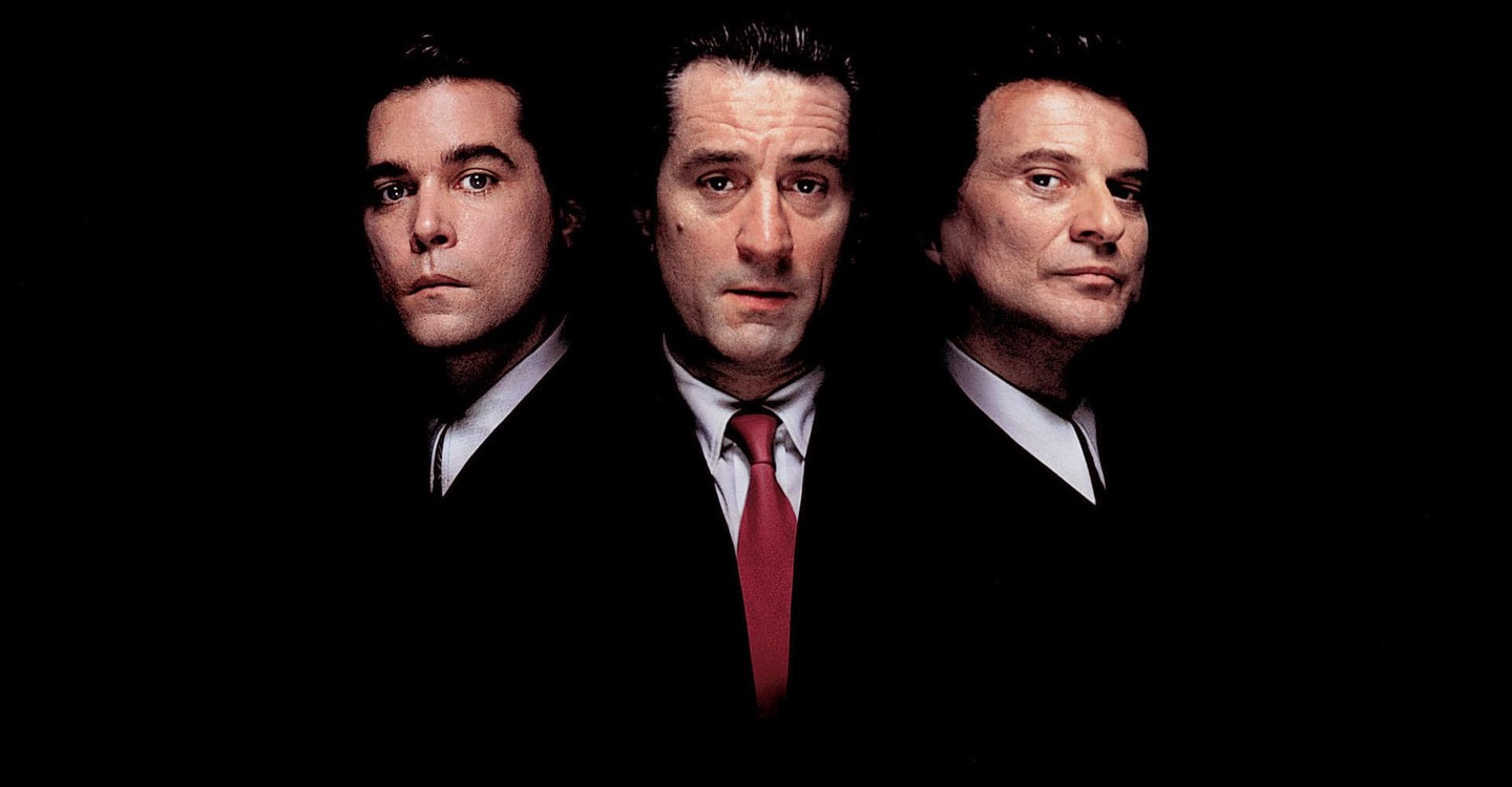 "Left to right, Ray Liotta, Robert De Niro and Joe Pesci star in Martin Scorsese's ""Goodfellas."" (Courtesy JustWatch)"