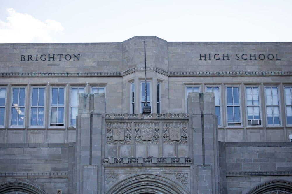 Brighton High School, pictured here, ranked 146th in Boston Magazine's most recent ranking. (Jesse Costa/WBUR)