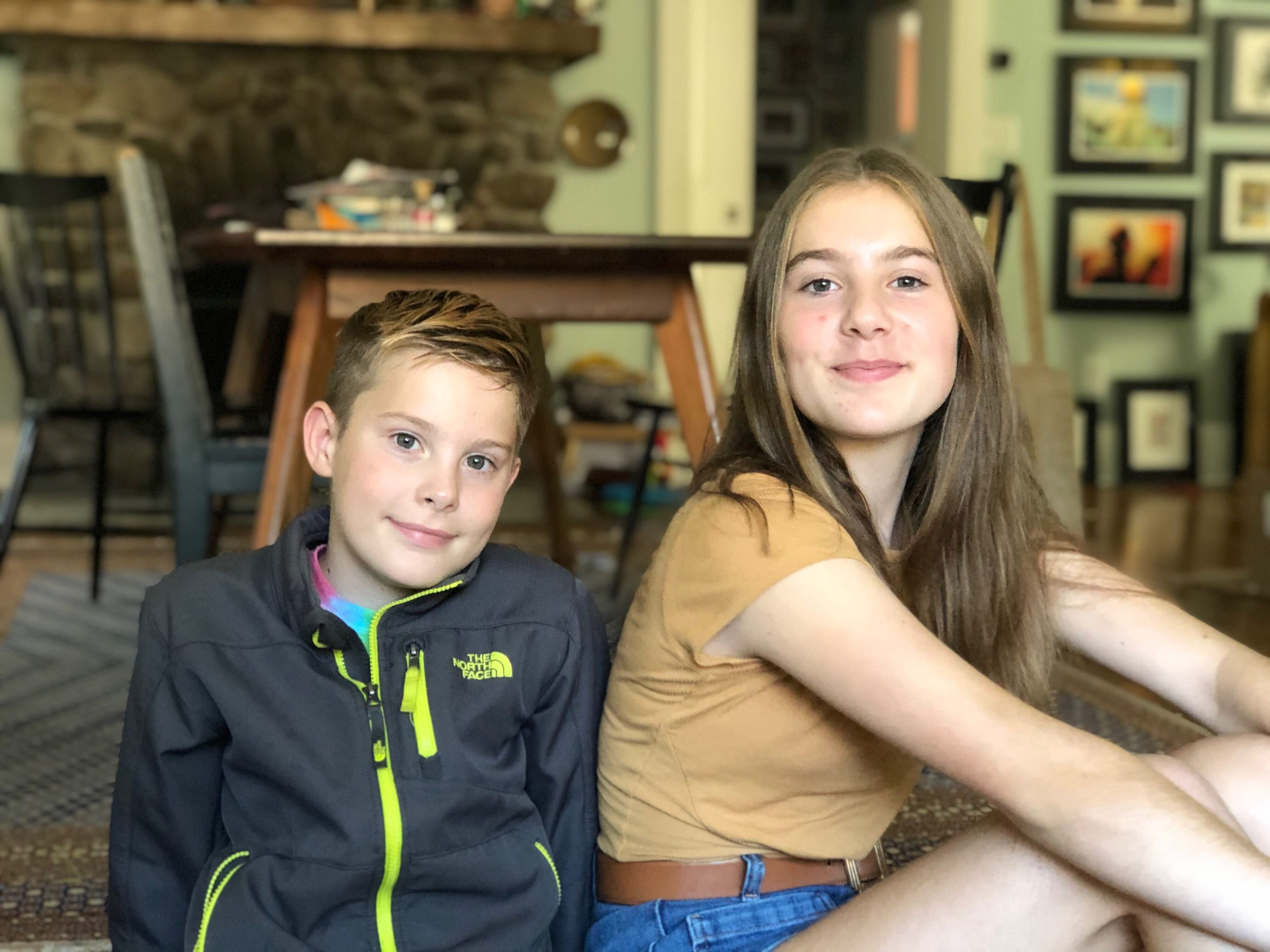 Virginia and Henry Bernstein, rising seventh- and fifth-graders in Franklin Public Schools