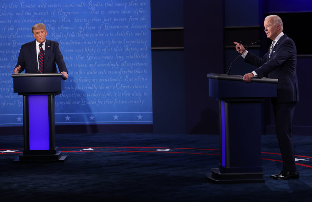 President Trump and Democratic presidential nominee Joe Biden participated in the first presidential debate at the Health Education Campus of Case Western Reserve University on Sept. 29 in Cleveland. (Win McNamee/Getty Images)