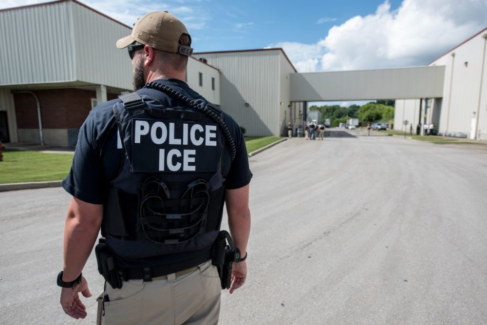US Immigration and Customs Enforcement's (ICE) special agent preparing to arrest alleged immigration violators (Courtesy ICE/U.S. Immigration and Customs Enforcement. Photo by Smith Collection/Gado/Getty Images)