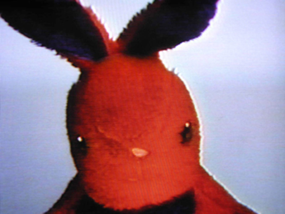 "Nayland Blake's ""Negative Bunny""  (1994) is part of an online solo show at MIT List Visual Arts Center. (Courtesy the artist and Matthew Marks Gallery, New York)"