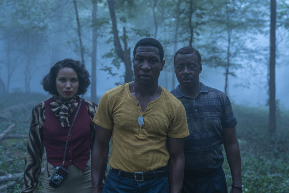 """Left to right, Jurnee Smollett, Jonathan Majors and Courtney B. Vance in episode two of """"Lovecraft Country."""" (Courtesy HBO)"""