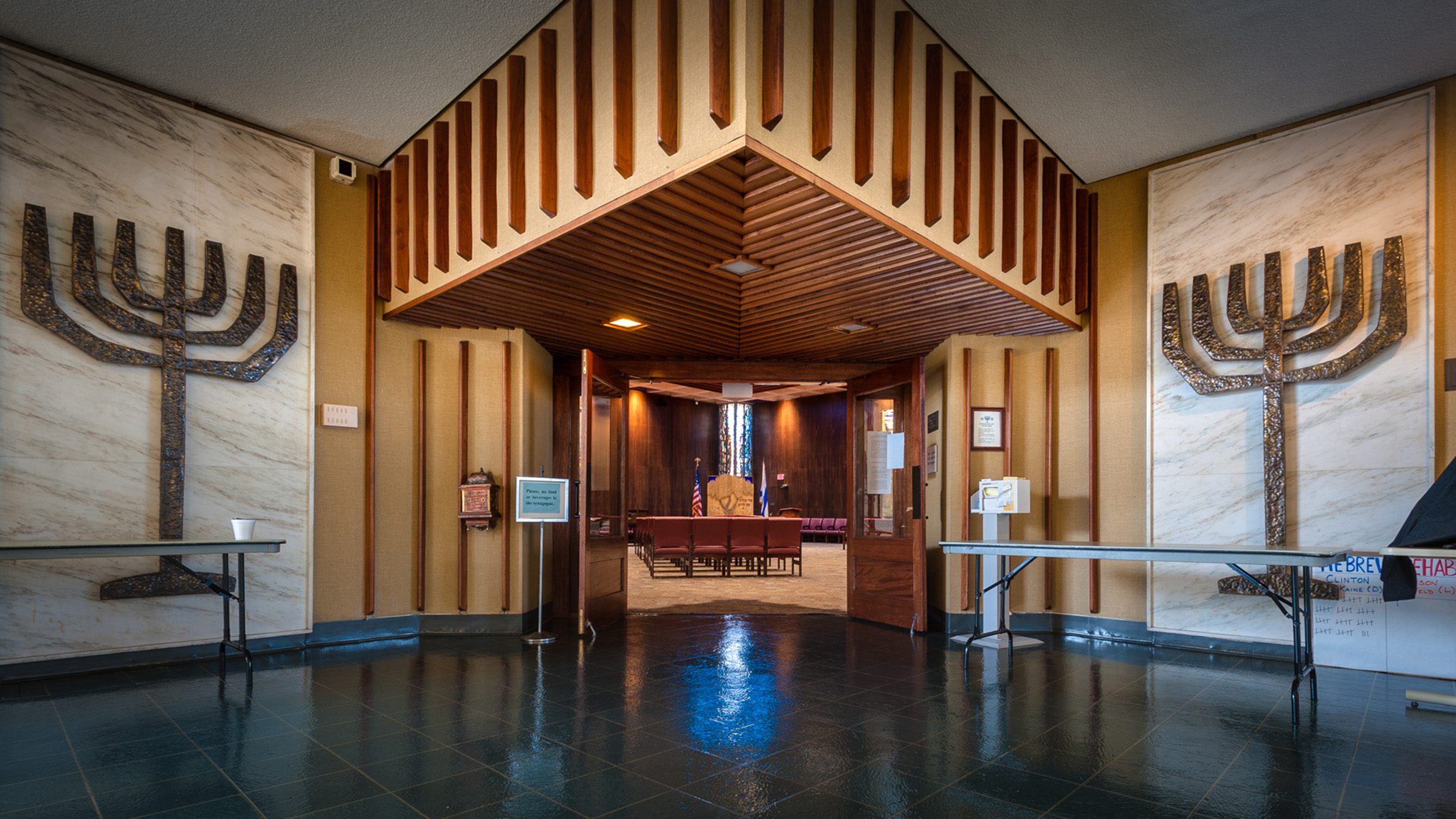 The Cable Synagogue at the Hebrew SeniorLife Rehabilitation Center in Roslindale, was built in 1965 to cater to the spiritual needs of the residents inside this historically Jewish senior home. (Courtesy Randall Armor)