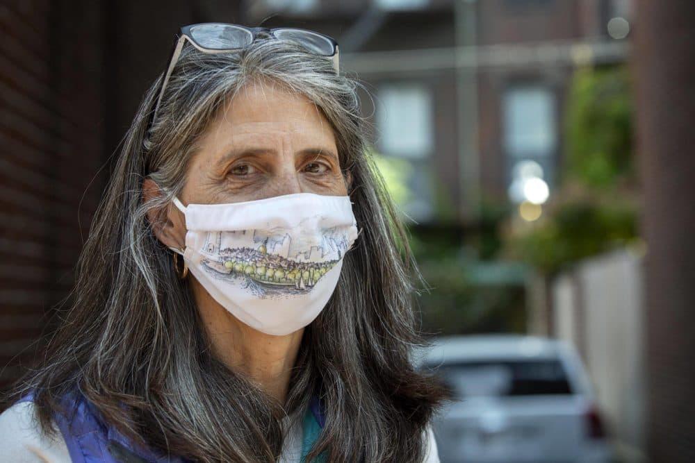 Ania Camargo lives on Temple Street in Boston's Beacon Hill. (Robin Lubbock/WBUR)