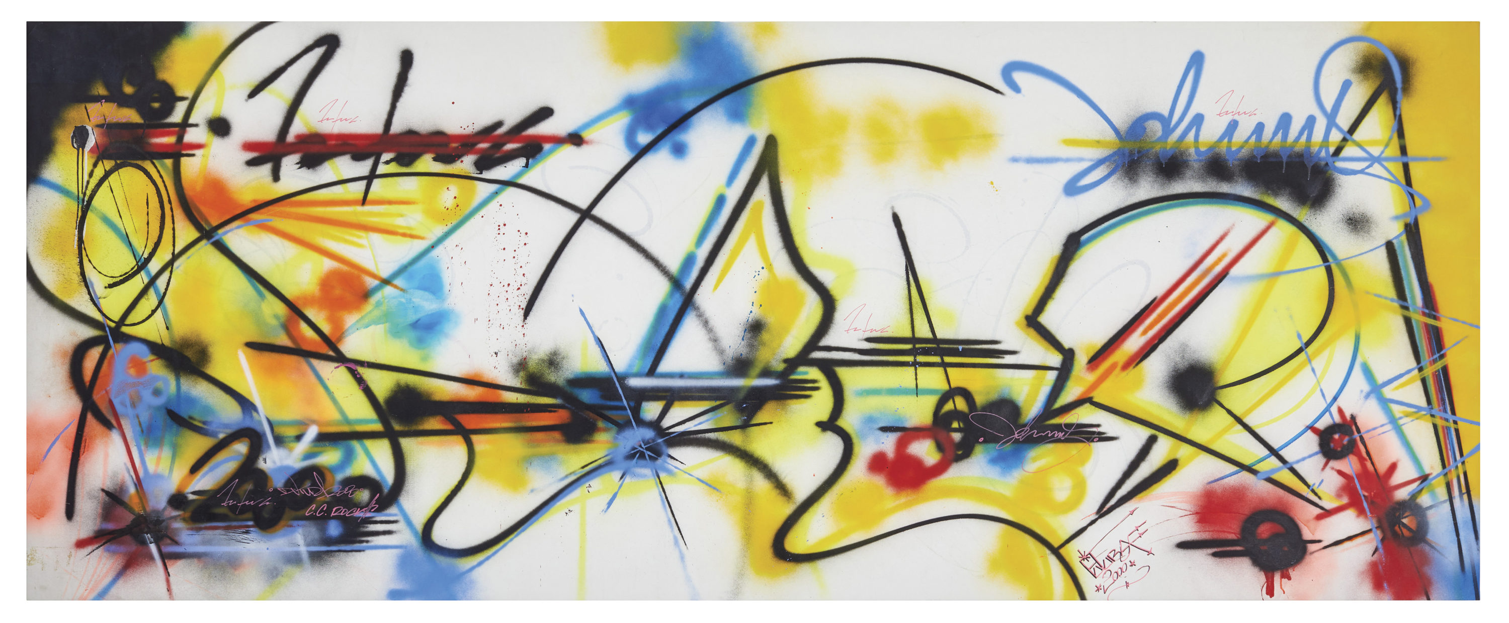 "Futura, ""Untitled,"" 1982. (Courtesy Museum of Fine Arts, Boston)"