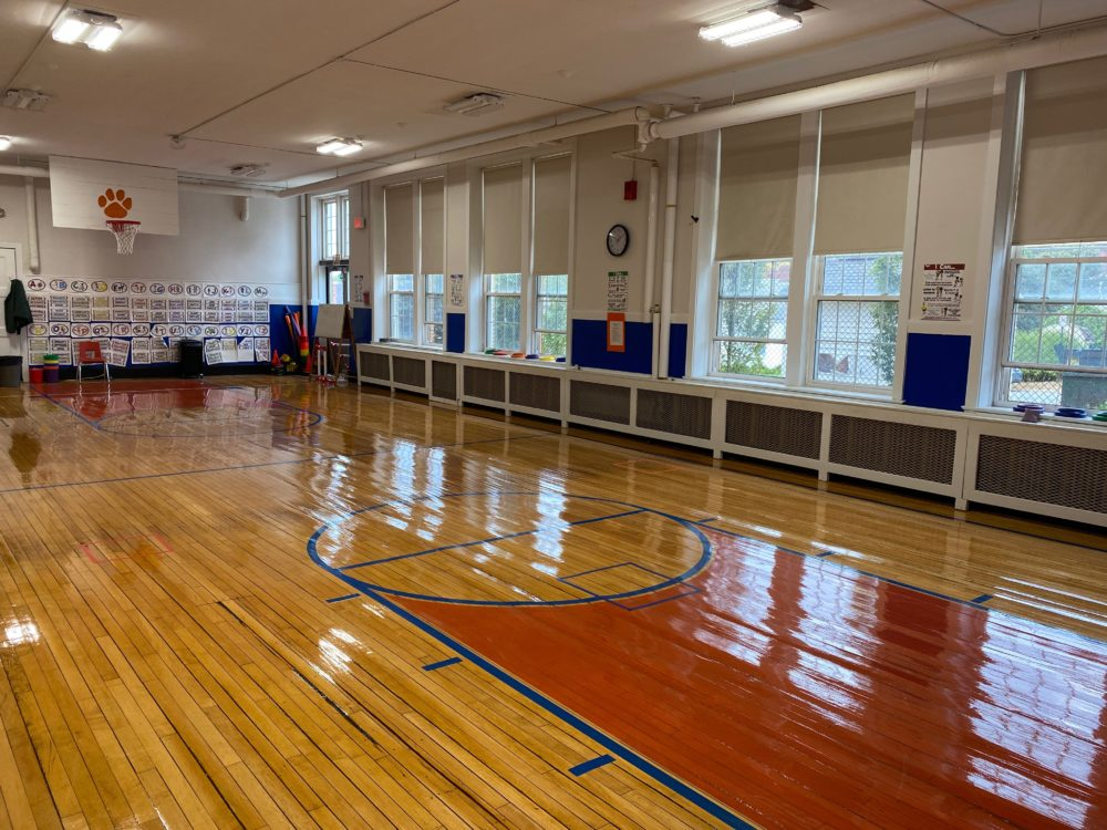 Christine Hickey's gym at the Tilton Lower School in Haverhill. (Courtesy Christine Hickey)