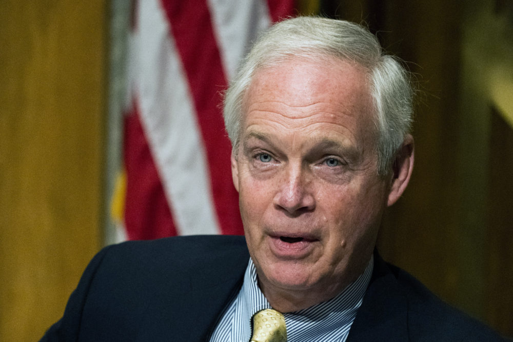In this Sept. 16, 2020 file photo, Senate Homeland Security and Governmental Affairs Committee Chairman Sen. Ron Johnson, R-Wis., speaks during the committee's business meeting. (Manuel Balce Ceneta/AP)