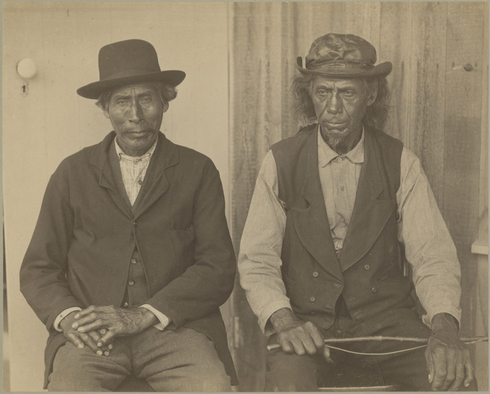 Photograph of Deacon Thomas Jeffers and Aaron Cooper (left to right). Museum Collection. (Courtesy Peabody Museum of Archaeology and Ethnology, Harvard University)