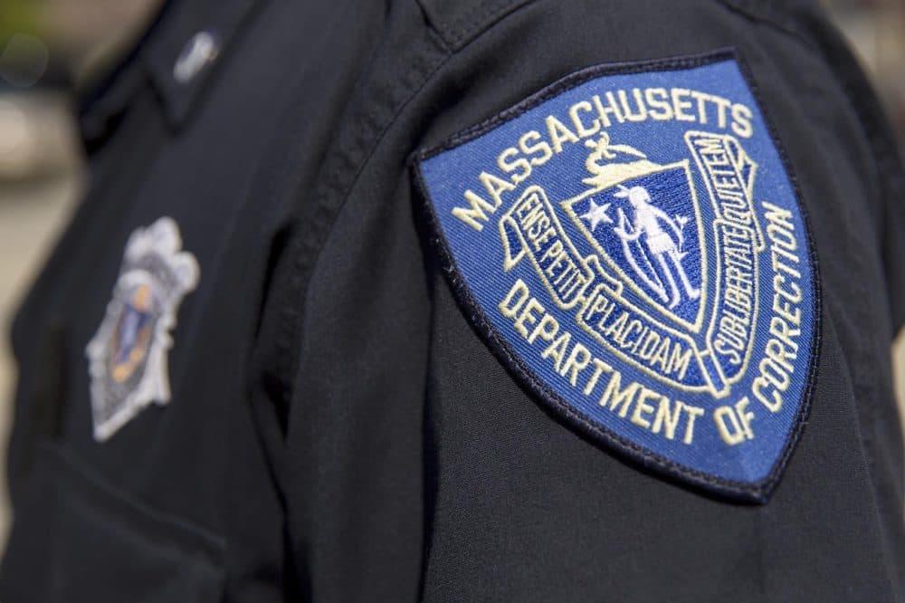 Massachusetts Department of Correction badge. (Robin Lubbock/WBUR)