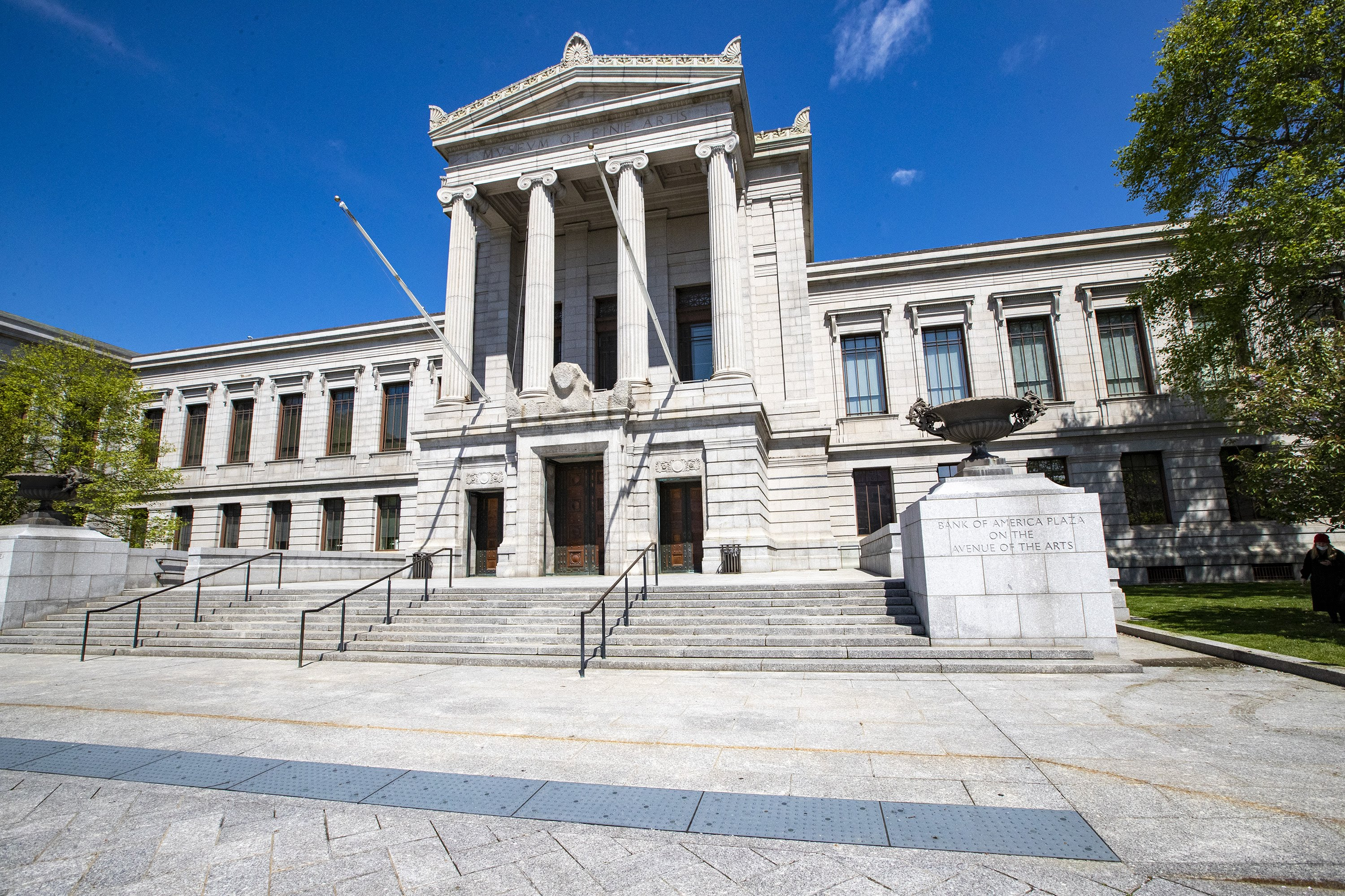 The MFA, pictured here in May, has placed it's film program on hold. (Jesse Costa/WBUR)