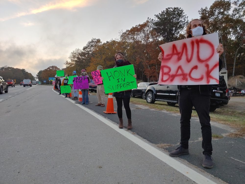 Since the beginning of November, members of Shinnecock Nation have been camping out along the only road into the Hamptons, demanding sovereignty. (Courtesy)