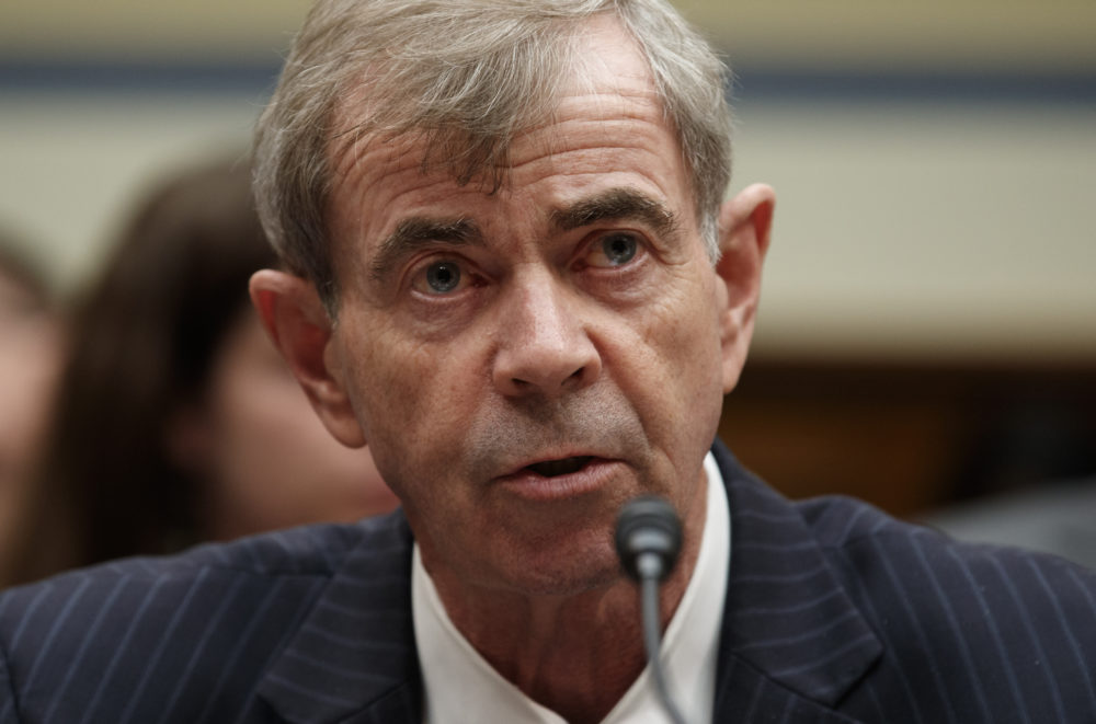 """Massachusetts Secretary of the Commonwealth Bill Galvin testifies on Capitol Hill in Washington, May 22, 2019, during the House Oversight and Reform National Security subcommittee hearing on """"Securing U.S. Election Infrastructure and Protecting Political Discourse."""" (Carolyn Kaster/AP)"""