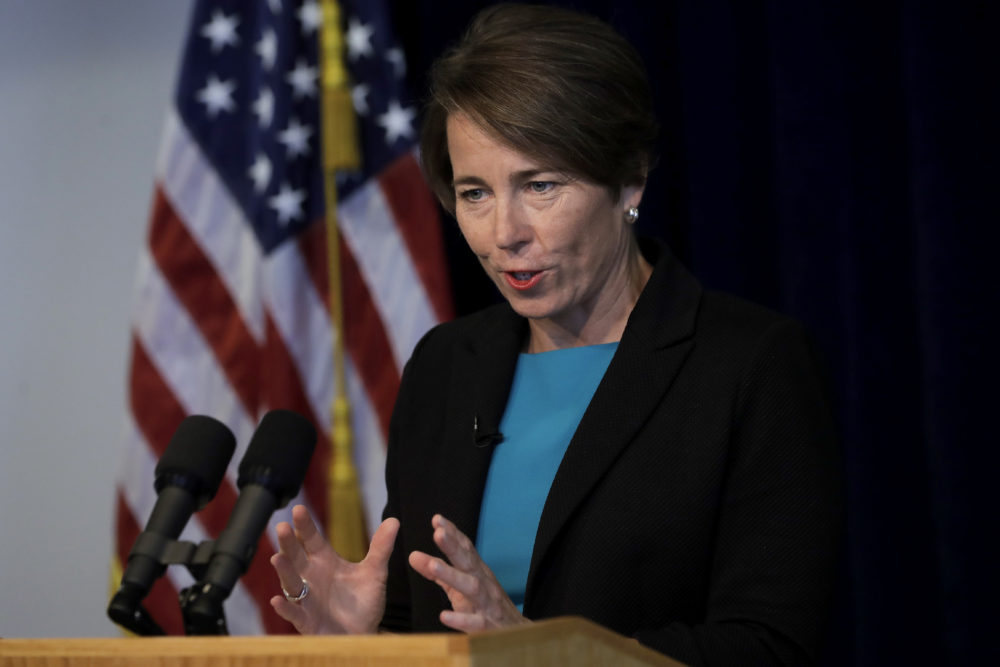 Massachusetts Attorney General Maura Healey during a news conference in 2019. (Steven Senne/AP)