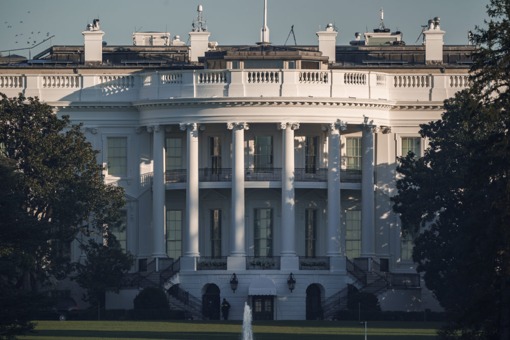 The White House in Washington, is seen early Sunday, Nov. 8, 2020, the morning after incumbent President Trump was defeated by his Democratic challenger, President-elect Joe Biden. (J. Scott Applewhite/AP)