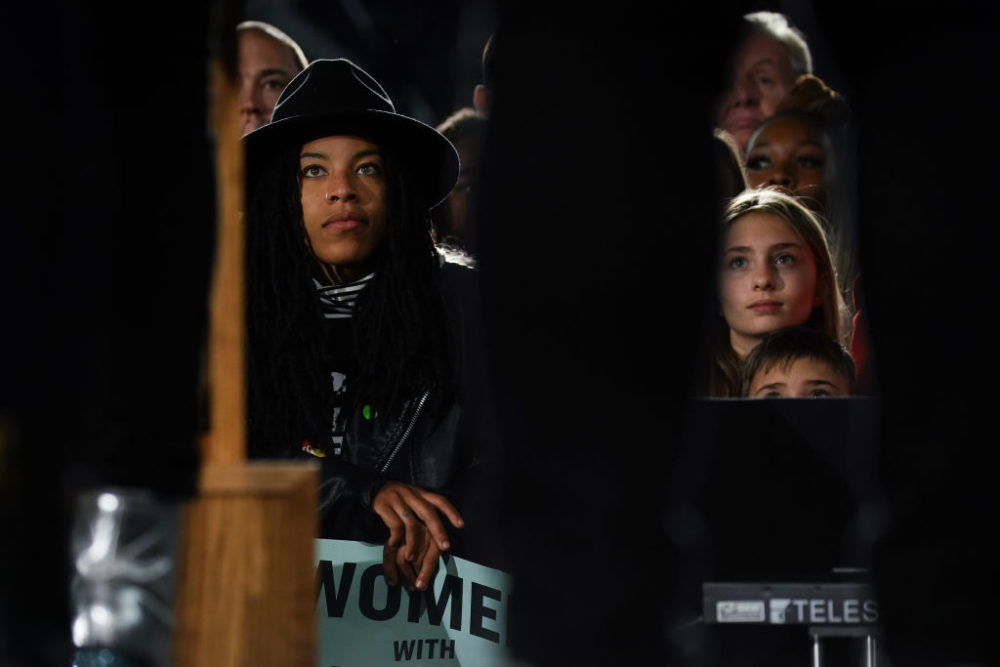 Attendees wait to see Sen. Elizabeth Warren (D-MA) at a campaign event at Clark Atlanta University on November 21, 2019 in Atlanta, Georgia. (Elijah Nouvelage/Getty Images)