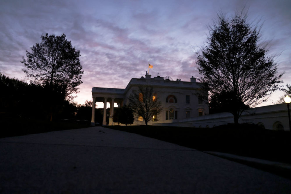 The White House is seen in the morning hours of the Election Day on November 3, 2020 in Washington, DC. (Alex Wong/Getty Images)