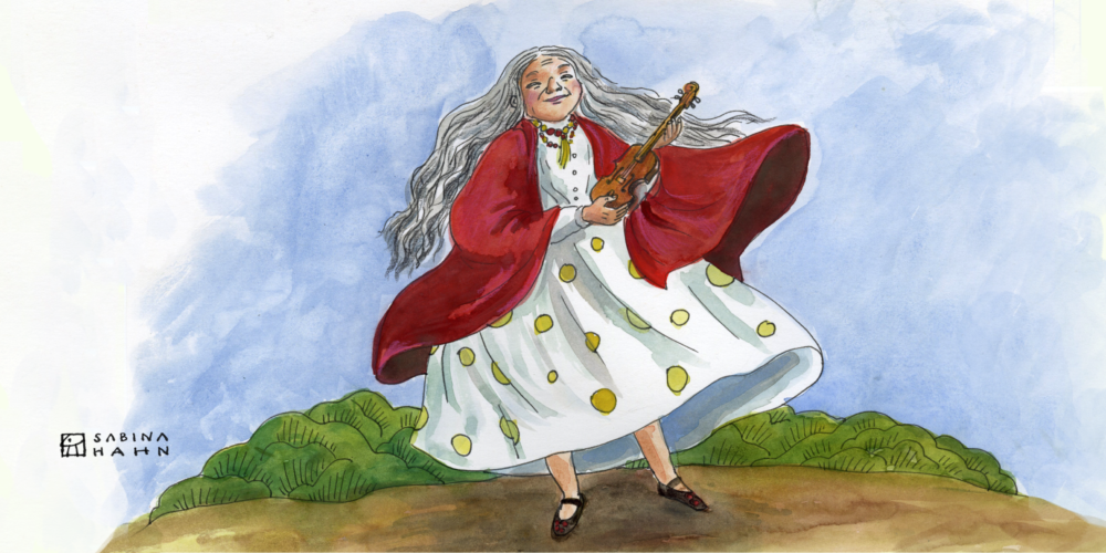 "(""The Fantastic Fiddle"" by Sabina Hahn)"