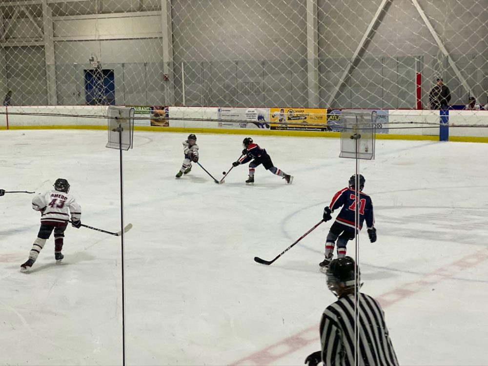 A Brookline Youth Hockey League game. (Courtesy Anne Trinque)